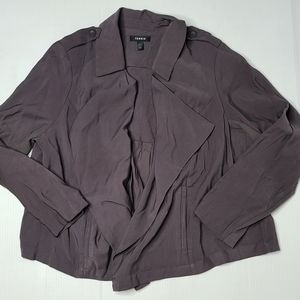 Torrid 1 Gray Rayon Polyester Open Jacket Blazer